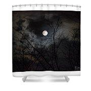 The Snow Moon Shower Curtain