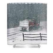 The Snowplow Shower Curtain