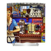The Soda Fountain Shower Curtain