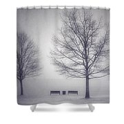 The Soft Breath Of Winter Shower Curtain