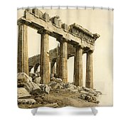 The South-east Corner Of The Parthenon. Athens Shower Curtain