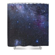 The Southern Sky And Milky Way Shower Curtain