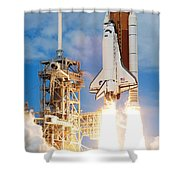 The Space Shuttle Discovery And Its Seven Shower Curtain