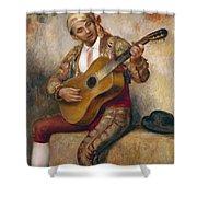 The Spanish Guitarist Shower Curtain