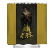 The Spanish Shawl - Portrait Of Jeanne Frankenberg Shower Curtain