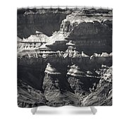 The Spectacular Grand Canyon Bw Shower Curtain