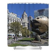 The Sphere Batterie Park Nyc Shower Curtain