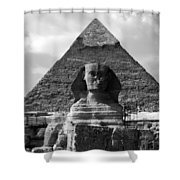 The Sphynx And The Pyramid Shower Curtain