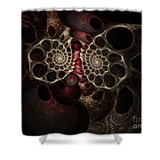 The Spiral Creature Shower Curtain