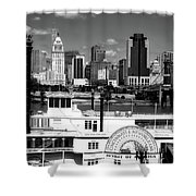 The Spirit Of America And Cincinnati  Shower Curtain