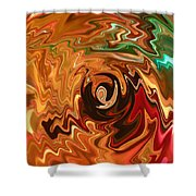 The Spirit Of Christmas - Abstract Art Shower Curtain