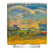 The Spirit Of Hastings Shower Curtain