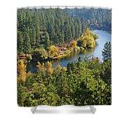 The Spokane River  Shower Curtain