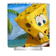 The Spongebob Movie Sponge Out Of Water Shower Curtain