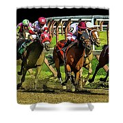 The Sport Of Kings Shower Curtain