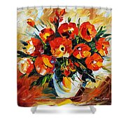 The Spring Is Here Shower Curtain