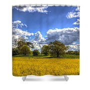 The Springtime Farm Shower Curtain