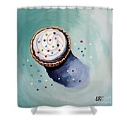 The Sprinkled Cupcake Shower Curtain