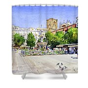 The Square In Summer Shower Curtain