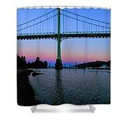 The St Johns Bridge Shower Curtain