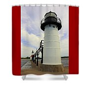 The St. Joseph Lighthouses In Michigan Shower Curtain