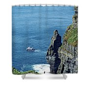 The Stack And The Jack B Cliffs Of Moher Ireland Shower Curtain