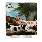 The Stag Hunt Shower Curtain