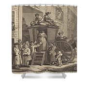 The Stage-coach, Or The Country Inn Yard Shower Curtain