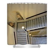 The Stairs To Museum Shower Curtain