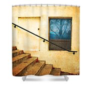 The Stairway Of Reflections Shower Curtain