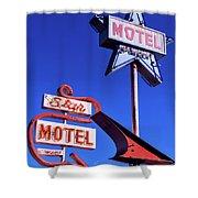 The Star Motel Shower Curtain