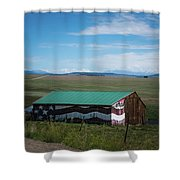 The Star Spangled Barn Shower Curtain