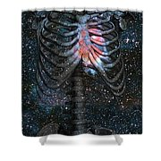 The Starbound Heart I Shower Curtain