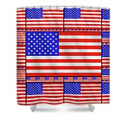 The Stars And Stripes 2 Shower Curtain