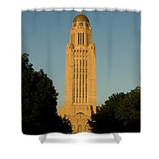 The State Capitol Building In Lincoln Shower Curtain