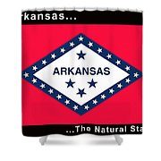 The State Flag Of Arkansas Shower Curtain