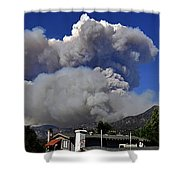 The Station Fire Panoramic Shower Curtain