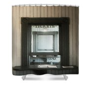 The Stationmaster's Window Shower Curtain