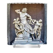 The Statue Of Laocoon And His Sons At The Vatican Museum Shower Curtain