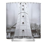 The Steel Tower Shower Curtain