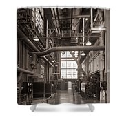The Stegmaier Brewery Boiler Room Wilkes Barre Pennsylvania 1930's Shower Curtain