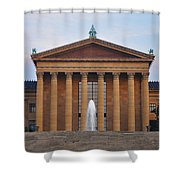 The Steps Of The Philadelphia Museum Of Art Shower Curtain by Bill Cannon