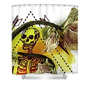 The Still Life With A Winter Rose Flower In A Macabre Style. Shower Curtain