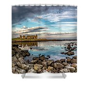 The Stilled Harbour... Shower Curtain