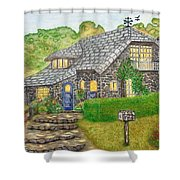 The Stone Cottage  Shower Curtain