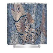 The Stone Fish Shower Curtain