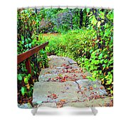 The Stone Steps Shower Curtain