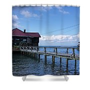 The Storm Is Coming Shower Curtain
