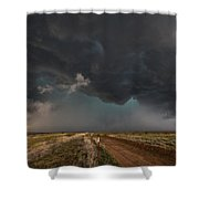 The Storm - Massive Thunderstorm Over Texas Panhandle Shower Curtain