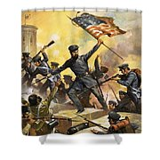 The Storming Of The Fortress At Chapultec Shower Curtain
